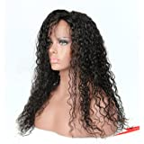 Eayon Hair Curly Full Lace Human Hair Wigs-Glueless 130% Density Brazilian Virgin Remy Wigs with Baby Hair for Women Natural Color 18inches