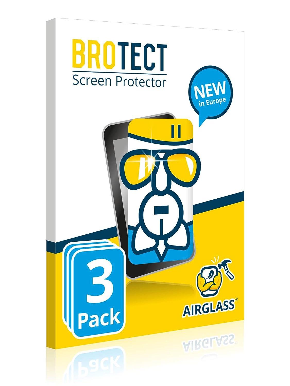 3 Unidades BROTECT Protector Pantalla Cristal para Garmin Edge 520 Plus AirGlass - Cristal Vidrio 9H