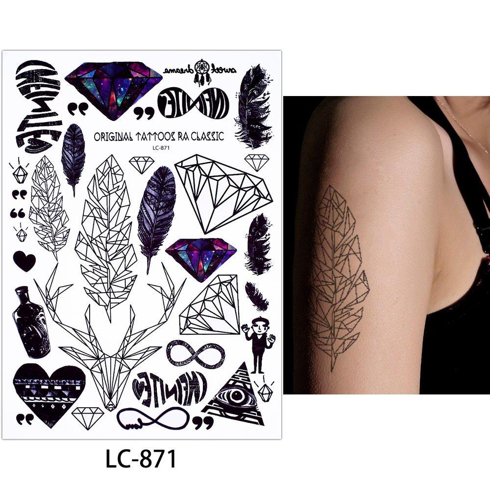gráfica de tatuajes líneas Tatuajes 3 pieza set Fake Tatuajes ...