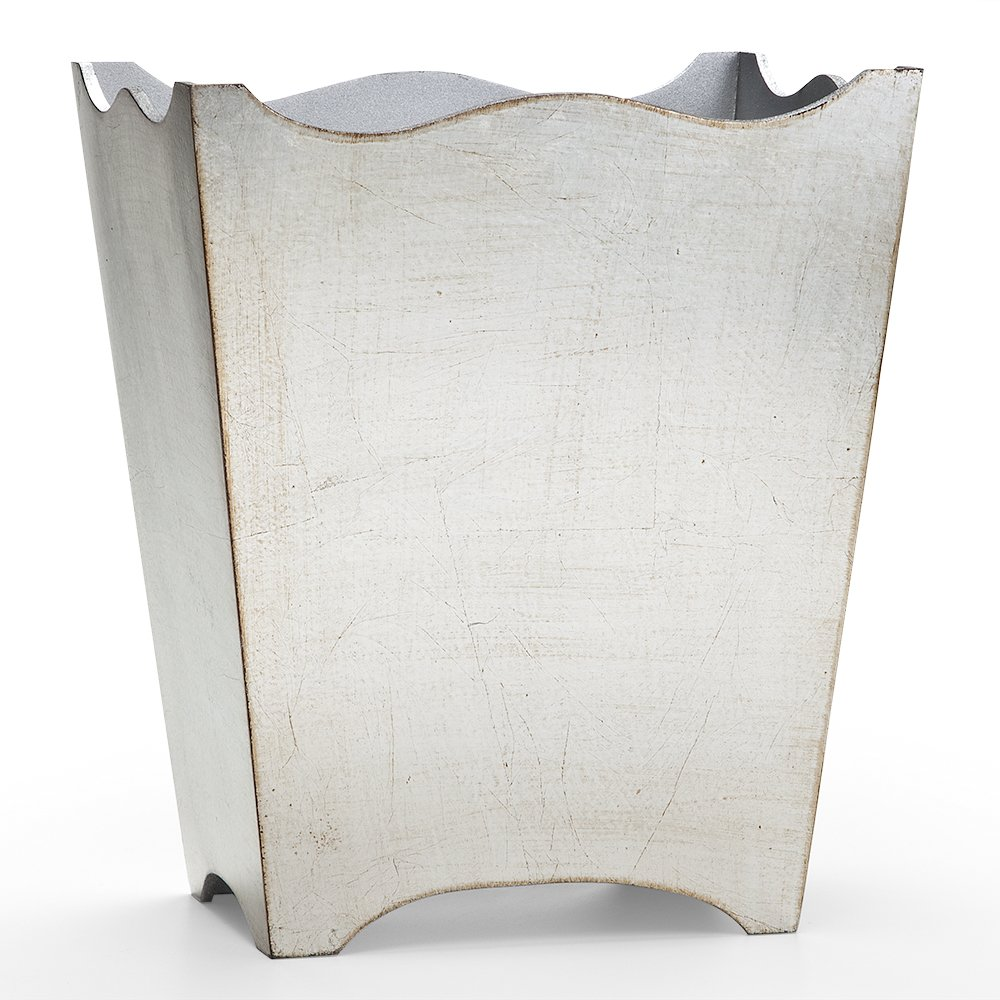 Classico Silver Leaf Waste Basket