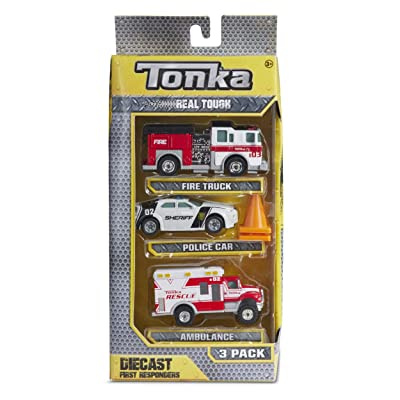 Tonka Real Tough Diecast First Responders - 3 Pack: Toys & Games