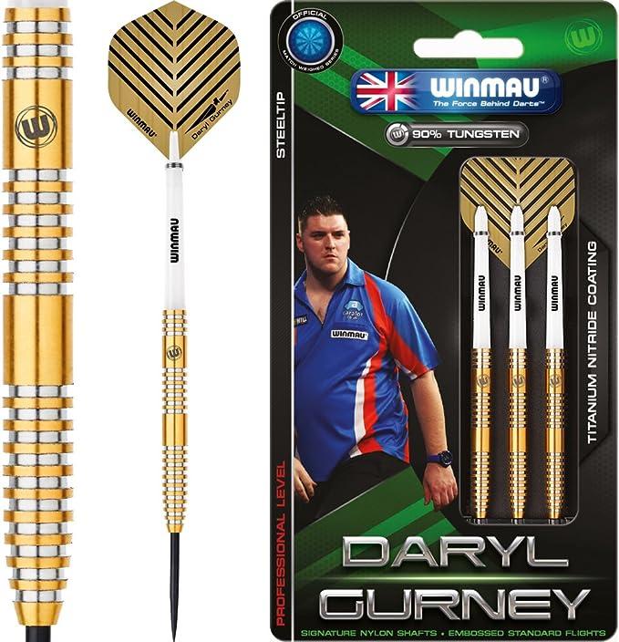 Winmau Daryl Gurney Superchin 90/% Tungsten Steel Tip Darts Titanium Nitride Gold