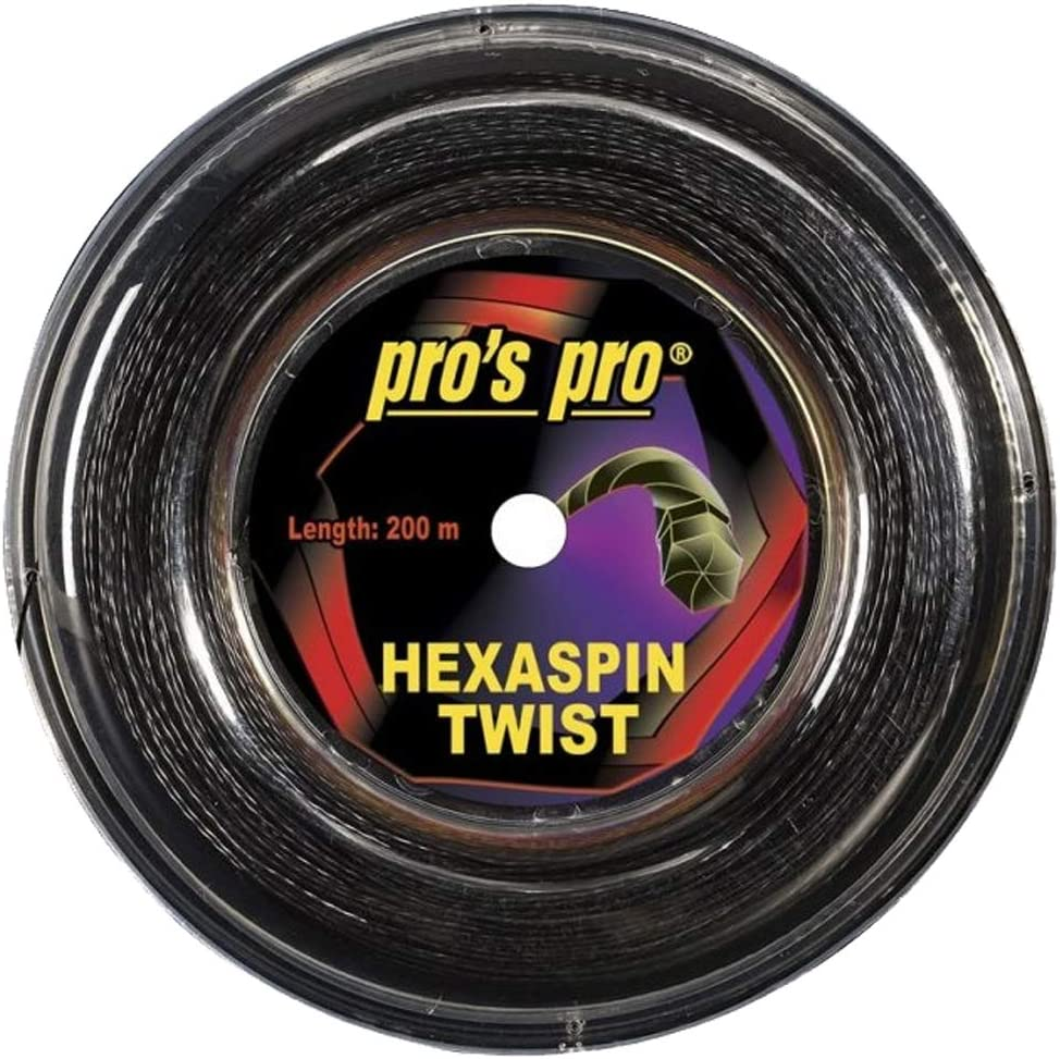 Pro Pros Tenis Spin Cordaje Hexaspin Twist 200m Negro