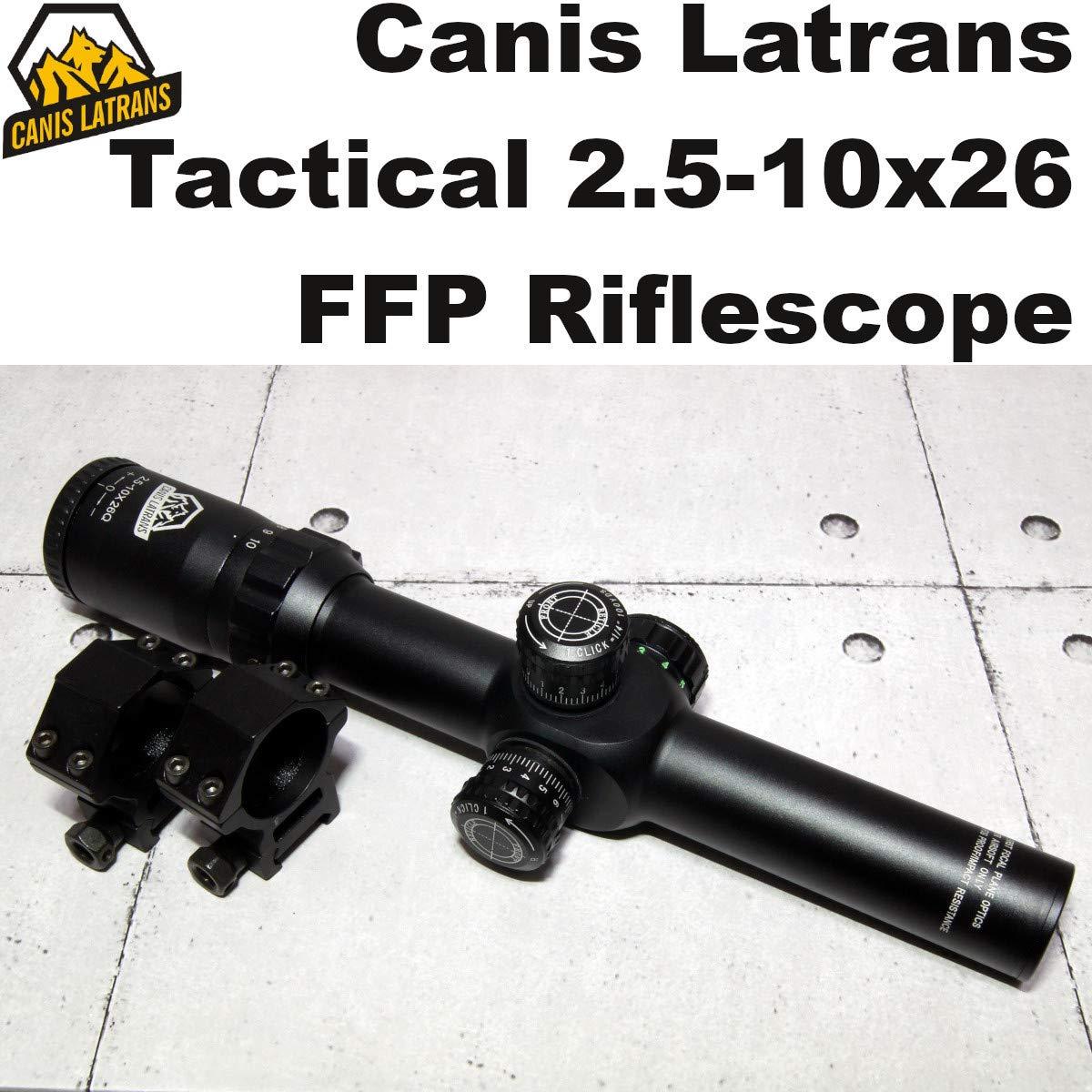Canis Latrans Tactical 2.5-10x26 FFP ライフルスコープ (1013) ファースト フォーカル プレン エアガン 電動ガン ガスガン スナイパー B07S617JRW