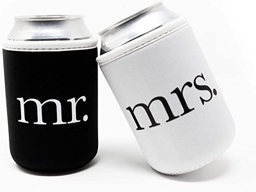 Amazon Com Cute Wedding Gifts Mr And Mrs Wedding Beer Can