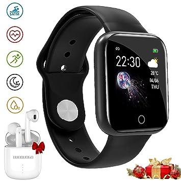 DUODUOGO Smartwatch, IP68 Reloj Inteligente Deportivo Impermeable para, Full Touch Monitor de Sueño de Frecuencia Cardíaca Tracker Health Al Aire ...