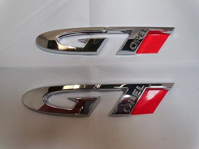 2x Gt Logo Schrift Emblem Original Opel 4813875 25975598 Auto