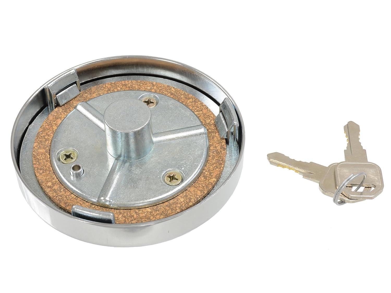 1963-1969 Corvette Gas Cap Chrome Vented Locking Includes 2 Keys