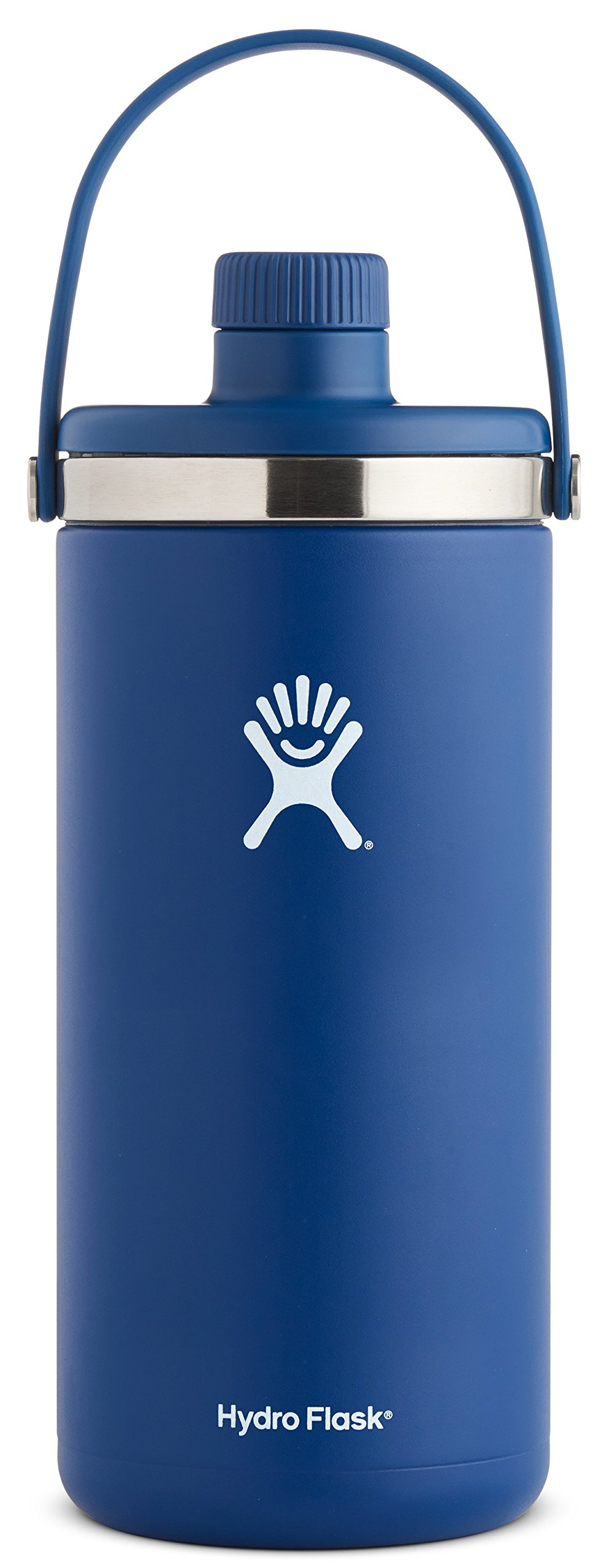 Hydro Flask 128 oz 1 gal Double Wall Vacuum Insulated Stainless Steel Leak Proof Oasis Water Cooler / Thermos / Jug, Cobalt
