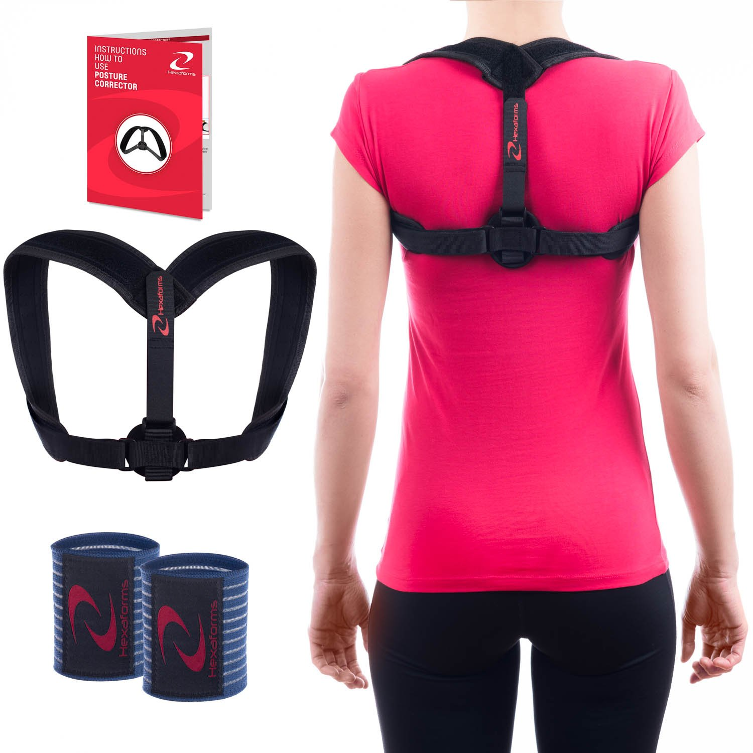 Hexaforms Back Posture Corrector for Women & Men - Effective and Comfortable Posture Brace for Slouching and Hunching - Clavicle Support for Upper Back & Shoulder Pain Relief - Medical Problems