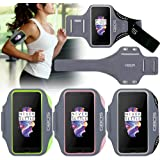 OnePlus 5 Sports Armband - GBOS® Sweat-Free,Gym,Running,Jogging,Walking,Hiking,Workout and Exercise Armband with Extra Adjustable-Length Extension Band Black