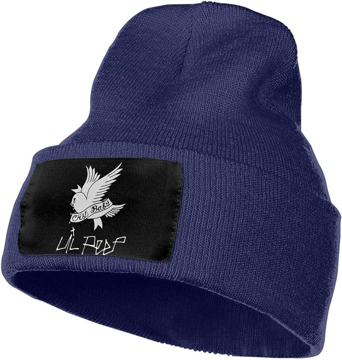 KennedyF Lil Peep Crybaby Skull Hats Cap Cuffed Knit Beanie Hat Black