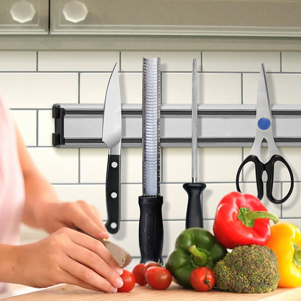 FUNOC Aluminum Alloy Magnetic Kitchen Hang Rack Wall-mounted Knife Holder