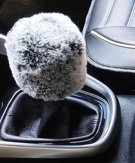 Automatic, Rainbow IBAIOU Universal Thickening Plush Gear Shift Cover/&HandBrake Cover Set Fluffy Warm Winter car Interior Styling 2Pcs Set
