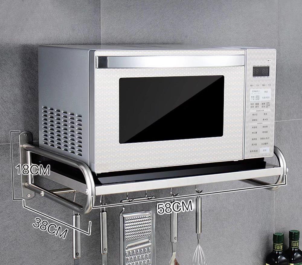 tama/ño: 58 * 38 * 18cm 304 acero inoxidable estante para microondas//estantes de cocina