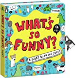 """Peaceable Kingdom 'What's So Funny?' 6.25"""" Lock and Key Diary with Jokes and Magic Light Pen"""