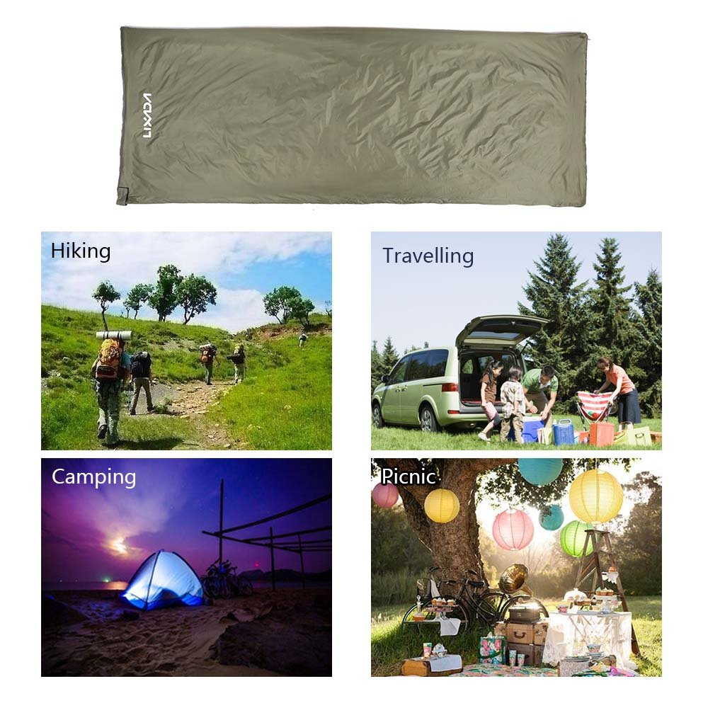 Lixada Envelope Sleeping Bag Ultra-light Waterproof with Compression Sack for Outdoor Traveling Camping Hiking