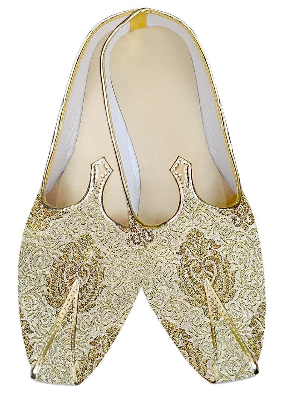 INMONARCH Hombres Dorado Novio Zapatos de Boda MJ012979 48.5 EU