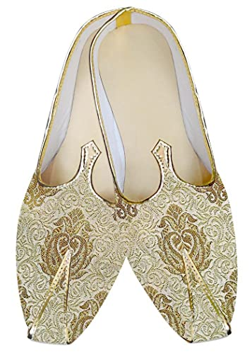 Mens Golden Groom Wedding Shoes MJ012979