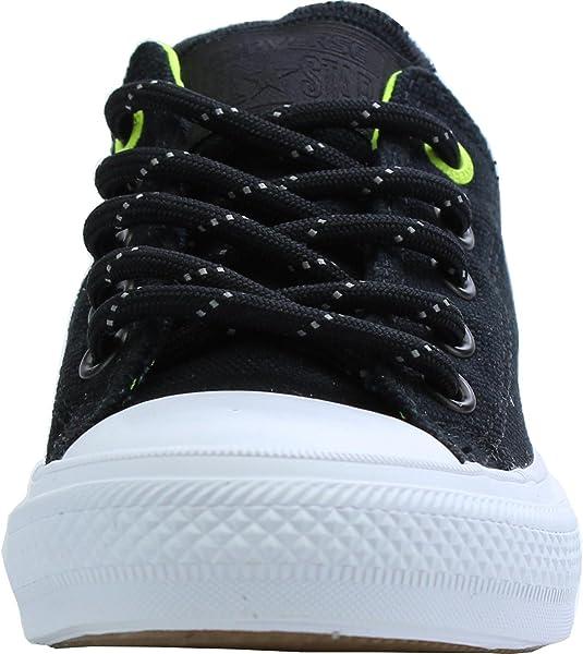 5520de255d40 Converse Chuck Taylor All Star II Shield Canvas Black Textile Junior  Trainers Shoes