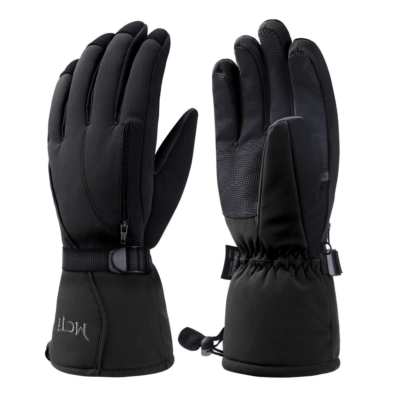 Kineed Skihandschuhe Herren Wasserdicht Winterhandschuhe Warm 3M Thinsulate Snowboardhandschuhe Winter Schnee Handschuhe Thermo Winddicht
