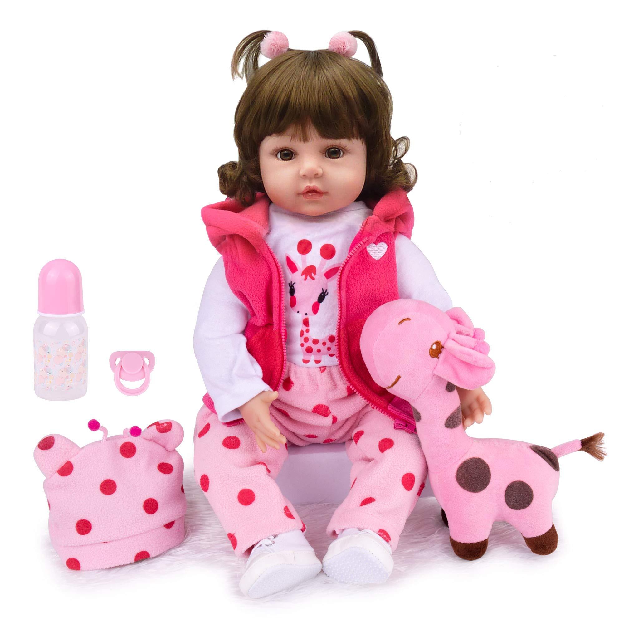 Named Abby Kaydora Reborn Baby Doll 22 Inch Adorable Toddler Girl Reborn Baby