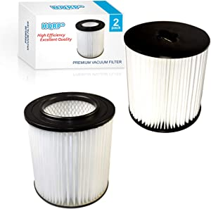 "HQRP 2-Pack 7"" Filter Compatible with VACUFLO FC300, FC550, FC650, FC310, FC520, FC530, FC540, FC610, FC620, FC670 H-P Central Vacuum Systems, 8106-01 Replacement"
