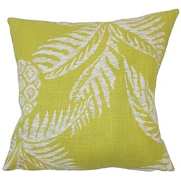 Amazon.com: The Pillow Collection Era Floral Down - Cojín ...