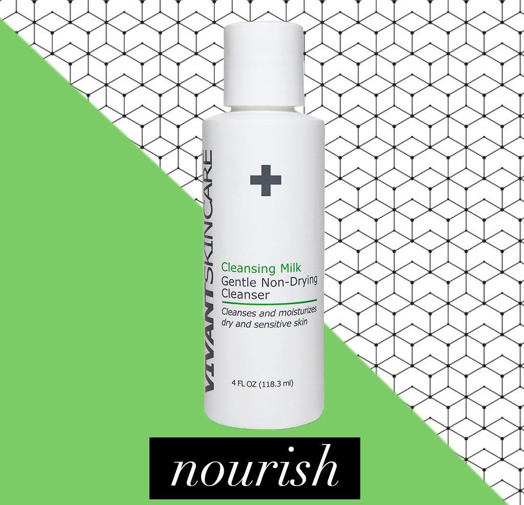 Vivant Skin Care Cleansing Milk Gentle Non-Drying Cleanser | Extremely Gentle, Luxuriantly Creamy & Moisture Rich | 4 Fluid ounce