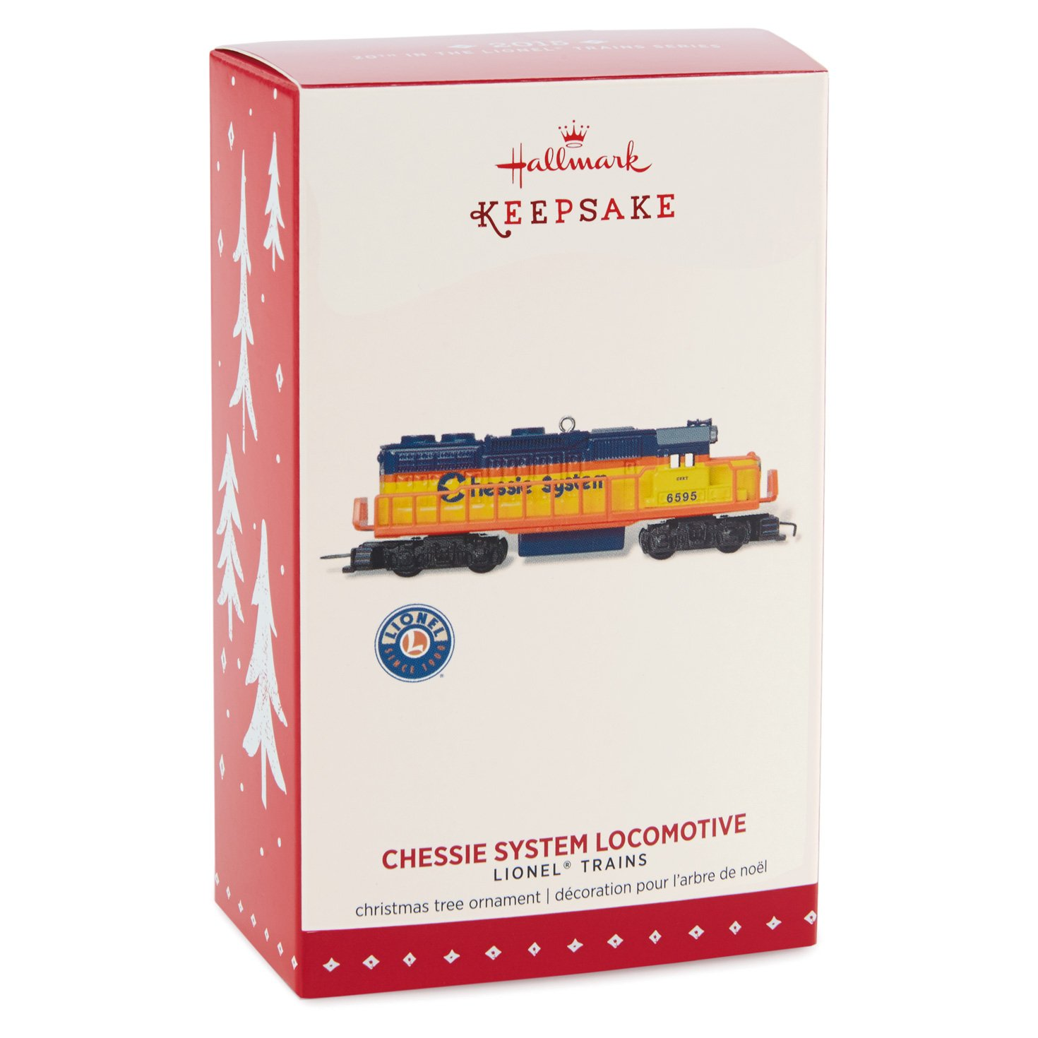 Amazoncom Hallmark Keepsake Ornament Lionel Chessie System Locomotive Train 20Th