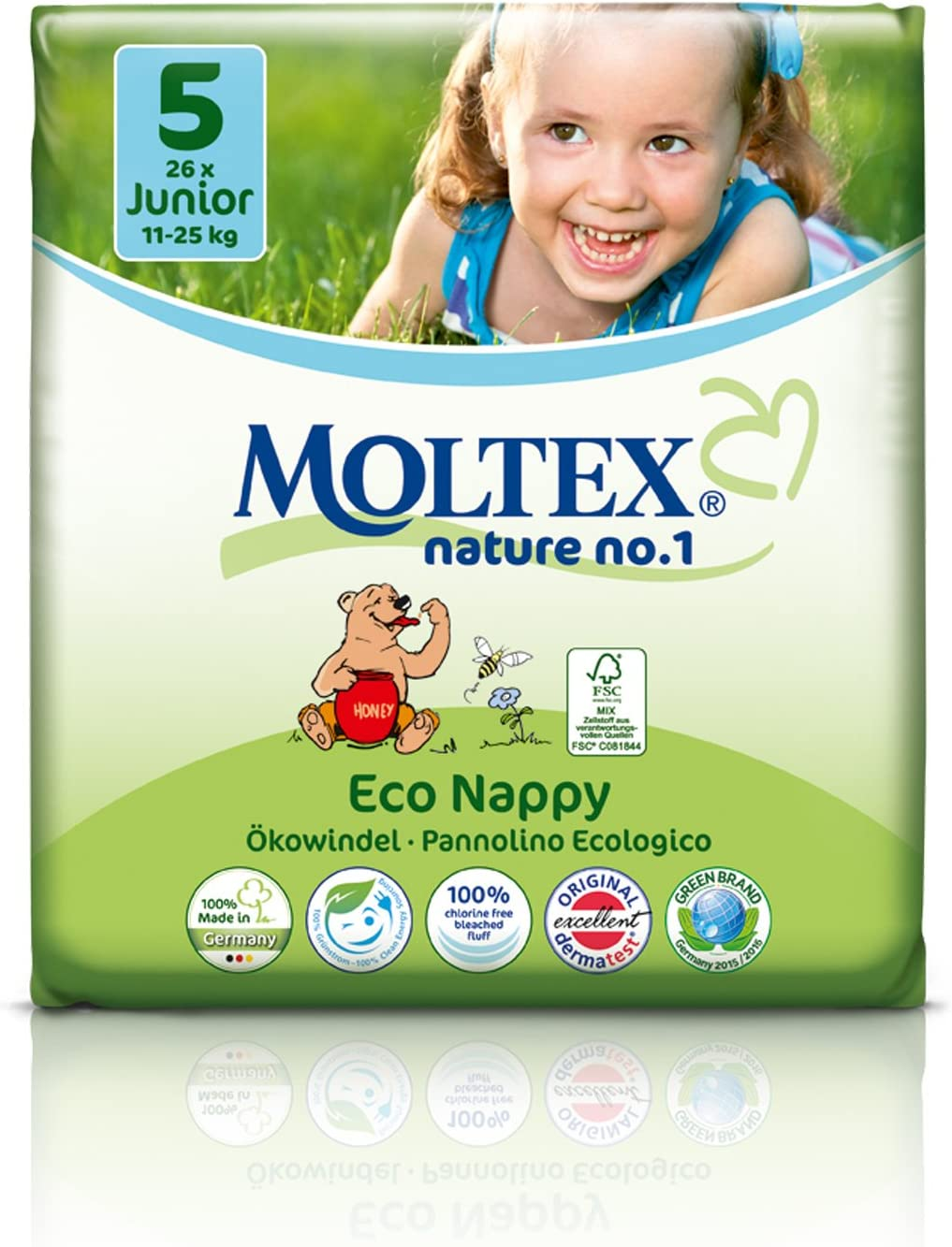 Couches Eco 11-25 kg Junior Moltex 32 couches Couches Jetables
