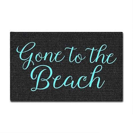 Mewisx Custom Door Mats Gone To The Beach Doormat Indoor/Outdoor Door Mat  18x30 Inch