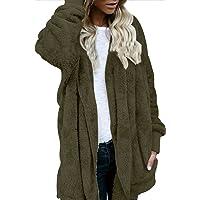 OUR WINGS Women Winter Warm Outwear Fleece Sherpa Jacket Hooded Coat with Pocket