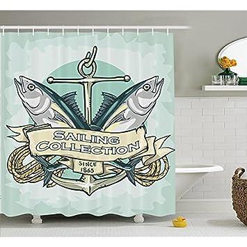 Nautischen Dekor Kollektion, Segeln Sammlung Seit 1865 U0026quot;Vintage  Fisherman Ribbon Banner Meeresfrüchte Bild