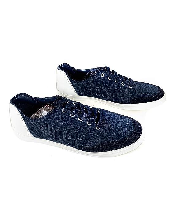 Zara - Zapatillas de sintético para Hombre Azul Azul, Color Azul, Talla 44 EU | 11 US | 10 UK: Amazon.es: Zapatos y complementos
