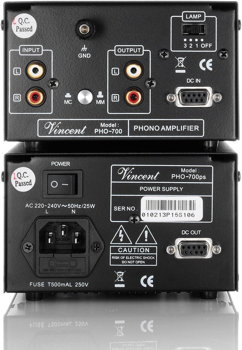 Amazon.com: Vincent – pho-700 – Phono mm/MC – con Motor ...