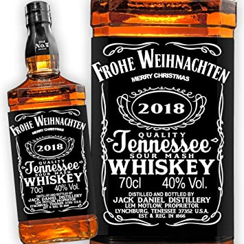 Jack Daniels Whiskey Etikett Frohe Weihnachten Merry Christmas