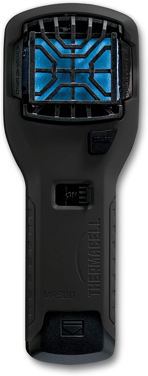 Thermacell MR300 Portable Mosquito Repeller, Black; Contains Fuel Cartridge, 3 Mosquito Repellent Mats; 15-ft Zone of Protection, 12 Hours of Mosquito-Free Relief Included; DEET-Free, No Spray