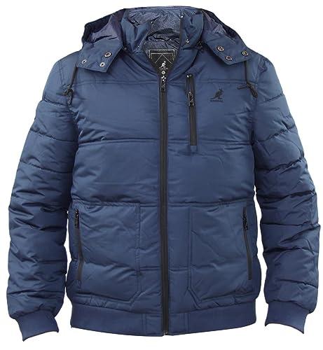 Nueva marca de fábrica de Kangol de los hombres cubierta acolchada rellenada de la capa de la chaque...