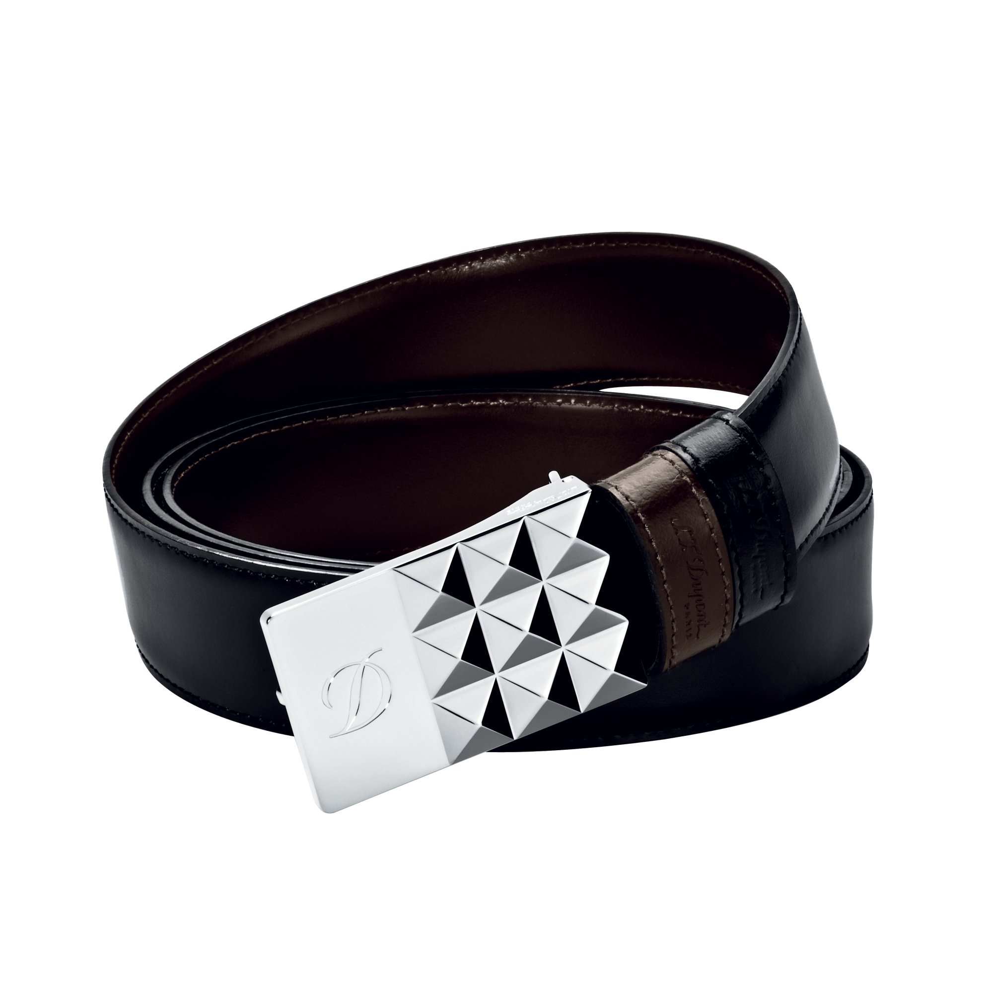 S.T. Dupont 7770120 Business Palladium Finish Reversible Black/Brown Belt