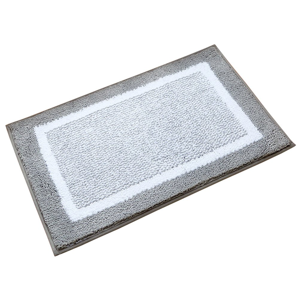 Kitchen Rugs,O'Family Non Slip Microfiber Bath Rugs with Rubber Backing Area Doormat Small Entry Runner Rug Set,17.7 Inch By 23.6 Inch
