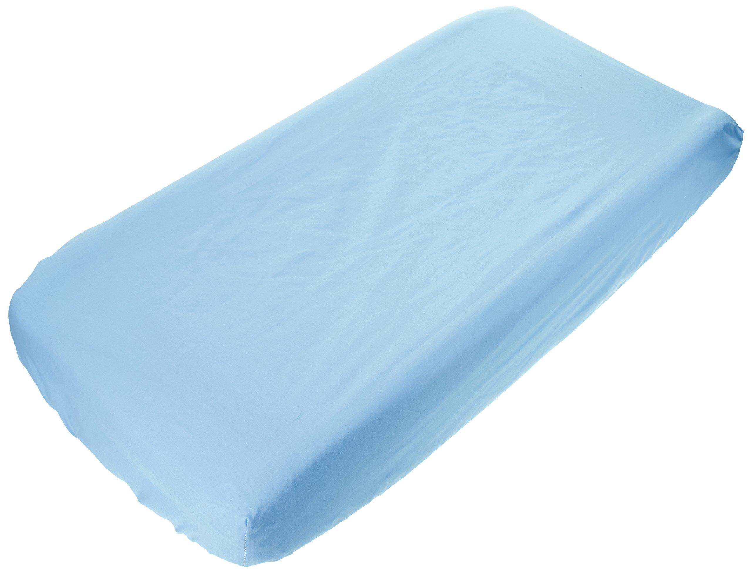 bkb Flat Changing Pad Cover, Light Blue