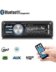 Radio de Coche, Rixow Autoradio Reproductor Estéreo Bluetooth de Coche, Apoyo de Reproductor MP3