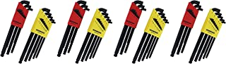 "product image for Bondhus 20599 0.050-3/8"" & 1.5-10mm Stubby Ball End Hex Key DoublePK (Fоur Расk)"