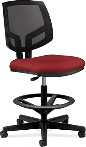 The HON Company GA42.T HON5715GA42T HON Volt Mesh Back Task Upholstered Adjustable Office Stool, Crimson H5715