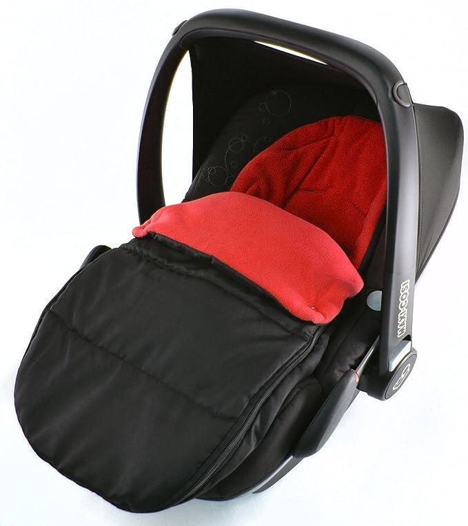 Saco de dormir para asiento de coche, compatible con ABC, diseño de Mamba Risus, color negro: Amazon.es: Bebé