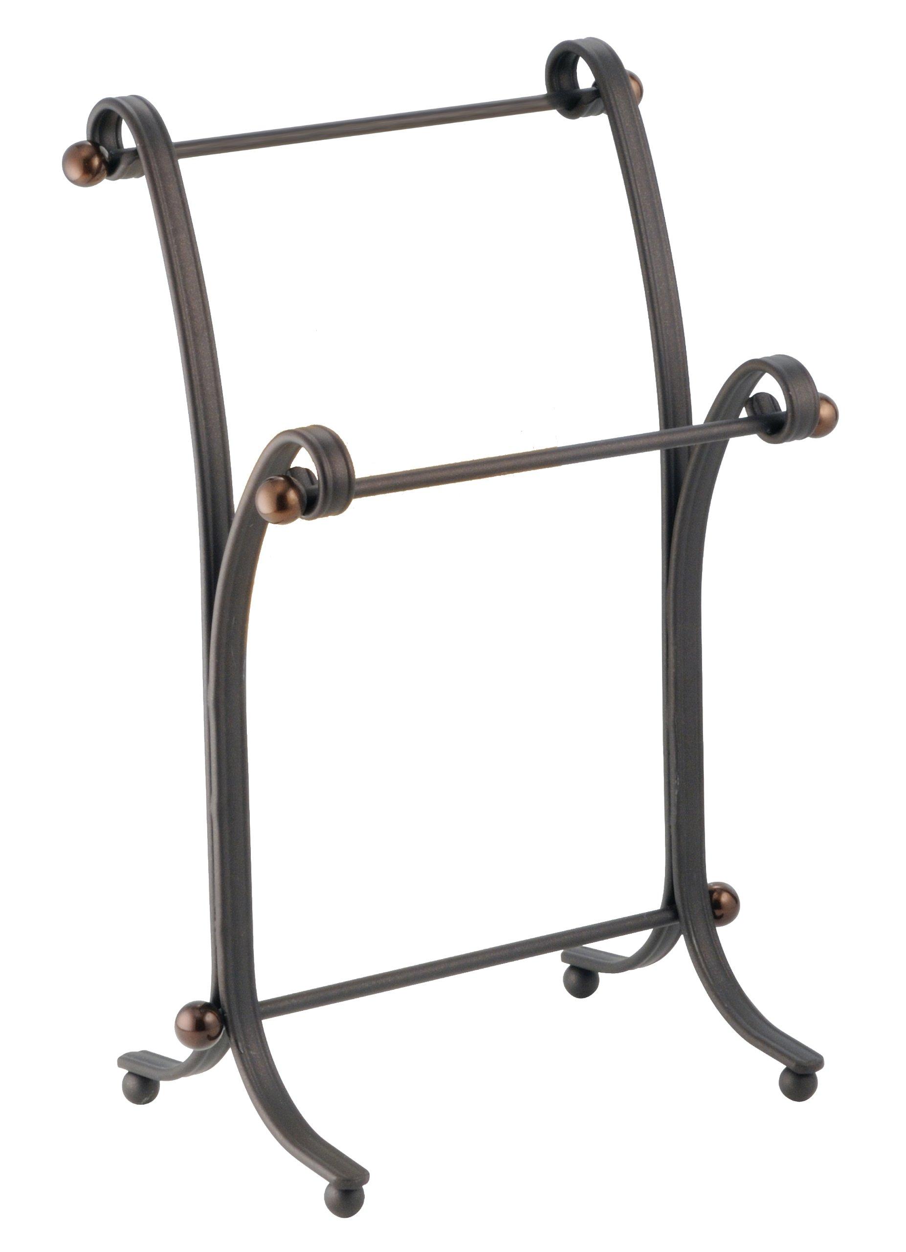 iDesign York Metal Bath Towel Holder Stand for Bathroom Vanities - Bronze by iDesign
