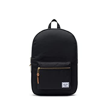9e13a3bef3d Amazon.com   Herschel Supply Settlement Mid-Volume Backpack, Black, One  Size   Casual Daypacks