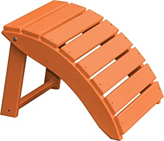 product image for Furniture Barn USA Poly Folding Round Ottoman Footrest - Orange