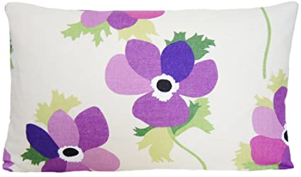 Funda de cojín de flores de color lila Floral funda almohada ...